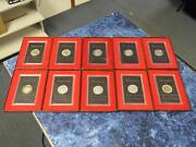 10 40 Eisenhower Silver Dollar Proofs W Brown Boxes 6-71s, 2-72s, 73, And 74