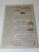 Vintage Ad From Successful Farming 1924 Buckeye And Superior Tractor Parts