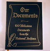 Our Documents 100 Milestone Documents National Archives Oxford Press Leather Hb