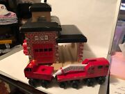 Thomas The Train Wooden 2001 Sodor Fire Dept No36 House And Sodor Fire Dept Truck
