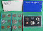 1970 Proof And Uncirculated Annual Us Mint Coin Sets Pds 15 Coins 40 Silver 50c