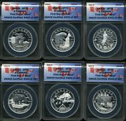2013 10 O Canada Coin Series Matte Proof .9999 Silver Anacs Sp70 Fdoi Set Of 12