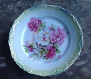 4 Germany A R Konig Luncheon Salad Plates Floral Pattern And Colors On The Front
