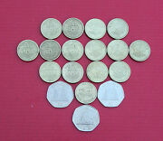 Selection Of Various Gibraltar Coins 1p 2p 5p 10p 20p 50p Andpound1 Andpound2