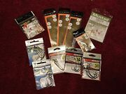 Lot Of 11 Pkgs Assorted Fishing Accessories Hooks Snelled Rig Weighted Outdoor