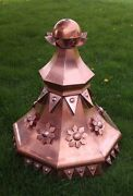 38and039and039 Tall Quality Made Unique Octagonal Copper Finial As Shown