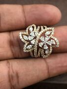 2.05 Cts Round Marquise Pear Cut Natural Diamonds Ring In Hallmark 585 14k Gold