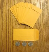 1500 Kraft Small Change Coin Envelopes With Gummed Flap 3 Size 2.5 By 4.25