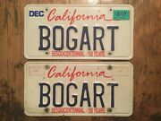 Bogart California State Personalized License Plate- Real Issue - Super Rare- Wow