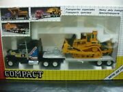 Wow Extremely Rare 321 Flat Bed Truck And Caterpillar D10n Chain Dozer 170 Joal