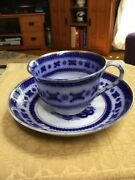 Charles Meigh Chinese Bells Flow Blue Cup And Saucer