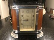 Yorke Catalin Bakelite Electric Clock In Butterscotch Used Needs Work - 50 Cycle
