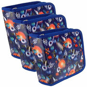 Setof3 Lenticular Cd Case Wallet 3d Outer Space Spaceman Planet R-217-cd24-s3
