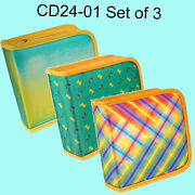Cd Dvd Case Wallet Yellow Green Lenticular Color-change Set Of 3 Cd24-01