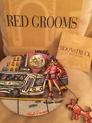 Red Grooms Moonstruck Modern Pop Art Collectible Plate - Limited Edition - New