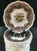 Masonand039s Ascot--set Of 9 Bread And Butter Plates--very Nice-no Issues--buy It Now