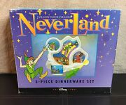 Follow Your Dreams Neverland Peter Pan 3 Piece Childs Dinnerwear Set New In Box