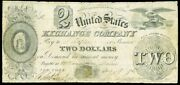 1837 Portland Maine 2 United States Exchange Company Obsolete Bank Note