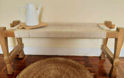 Bench 100 Hand Made.charpoy Indian Style.hand-knitted.strong Wood And Pure Cotton