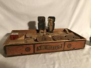 Large Antique Wooden Bliss Reed Blocks Circus Wagons Bears Circus Toy
