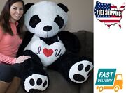 5 Foot Toy Game Giant Panda Bear Ultra Soft Paws Embroidery Pillow Included Fits