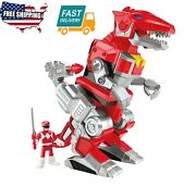 Kids Toy Game Imaginext Power Rangers Red Ranger And T-rex Zord Action Figures