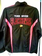 Toms River Blackhawks Hockey Club Full Zip Embroidered Huge Back Spellout Mens X