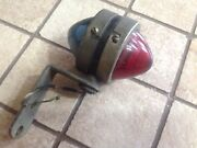 Early Double Clearance Lamp Red Green Glass Beehive Vintage Auto Truck Trailer