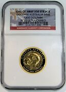 2008 Gold Australia 673 Minted 50 Dolphins 1/2oz Coin Ngc Proof 70 Uc
