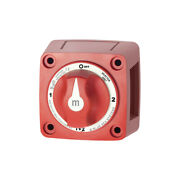 Blue Sea Systems 6007 M-series Mini Battery Switch Selector Four Position Red