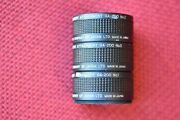 Victor Company Of Japan Microscope Objective Lens 47.5mm Set Of 3