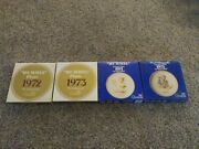 Lot Of 4vintage 1972 1973 1974 1975 Goebel Hummel Annual Plate With Boxes