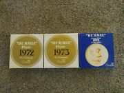 Lot Of 3 Of Vintage 1972 1973 1974 Goebel Hummel Annual Plate With Boxes