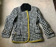 Rare Vtg Gianni Versace Couture Early 90s Wool Tweed Checked Jacket Coat Mint M