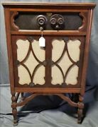 Antique Atwater Kent Battery Set Console In Pooley Cabinet