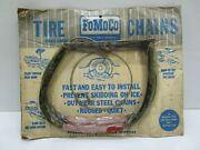 Nos Ford Tire Chain Assembly C5az-19f500-b Rare Cool 15 Tire Great Graphics