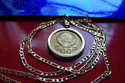 Classic Russian Hammer-sickle Coin Pendant On An 18k 20 Gold Filled Chain
