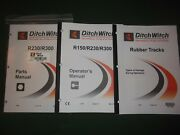 Ditch-witch R230 R300 Trencher Operators Operation Maintenance Parts Manual Book