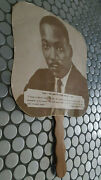 60's Martin Luther King Jr.hand Fan Madden's Funeral Home Kingston Jamaica Rare