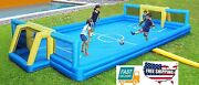 Home Garden Outdoor Kids Toy Game Play Sports Power Inflatable Soccer Field Fits