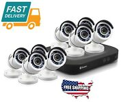 8 Channel 5mp Home Security Camera System Kit, 2tb Dvr Digital Video Recorder