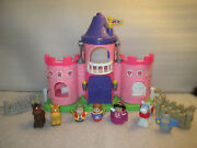Fisher Price Little People Pink Palace Lil Kingdom Castle Sound King Queen Horse