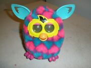 Furby Boom Pink / Blue / Teal W/ Hearts Talking Working Hasbro Interactive Works