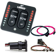 Lenco Marine 15171-001 Led Indicator Integrated Tactile Switch Kit Pigtail Dual