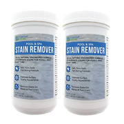 2 Pack Swimming Pool And Spa Stain Remover - Natural And Safe, Works For Vinyl Liner