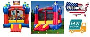 Outdoor Home Garden Kids Toy Game Magic Castle Inflatable Bouncer, With Blower