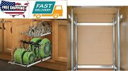 Home Kitchen Pull-out 2-tier Base Cabinet Cookware Organizer Storage Drawer Fits