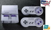Home Kids Play Super Nes Classic Video Game Power Console With 21 Games Fits