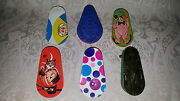 Lot Of 6 Vintage Tin Lithograph Noise Makers Clown Kirchhof Us Metal Toy Usa
