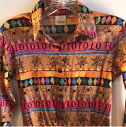 Authentic Vintage Todd Oldham Couture 100 Stretch Silk Blouse Unicorn Rare